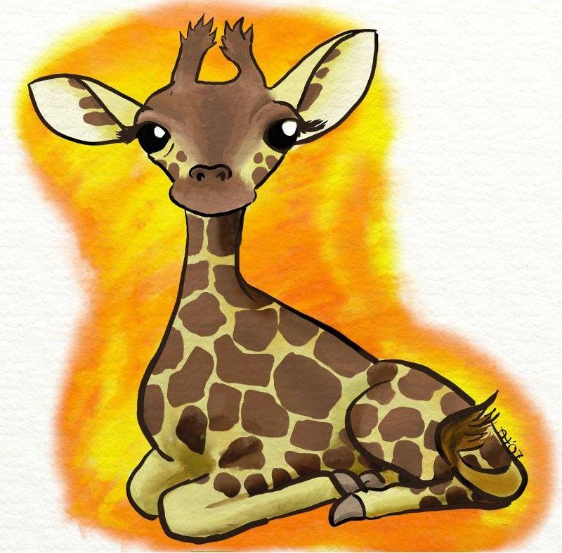 Годом петуха, жирафы картинки для детей нарисованные