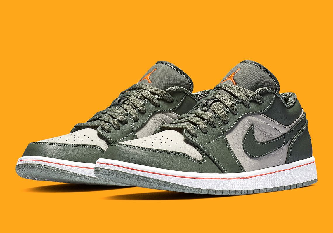 sneakers for cheap 17cb0 3f3cd Military Vibes Arrive On The Air Jordan 1 Low Air Jordan 1 Low  105 Style  Code  553558-121