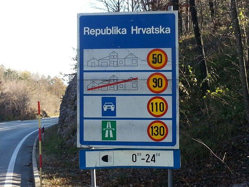 Border sign Croatia Road signs, Highway signs, Signs