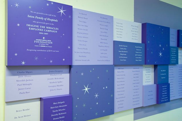 donor recognition signage case study dell childrens medical center
