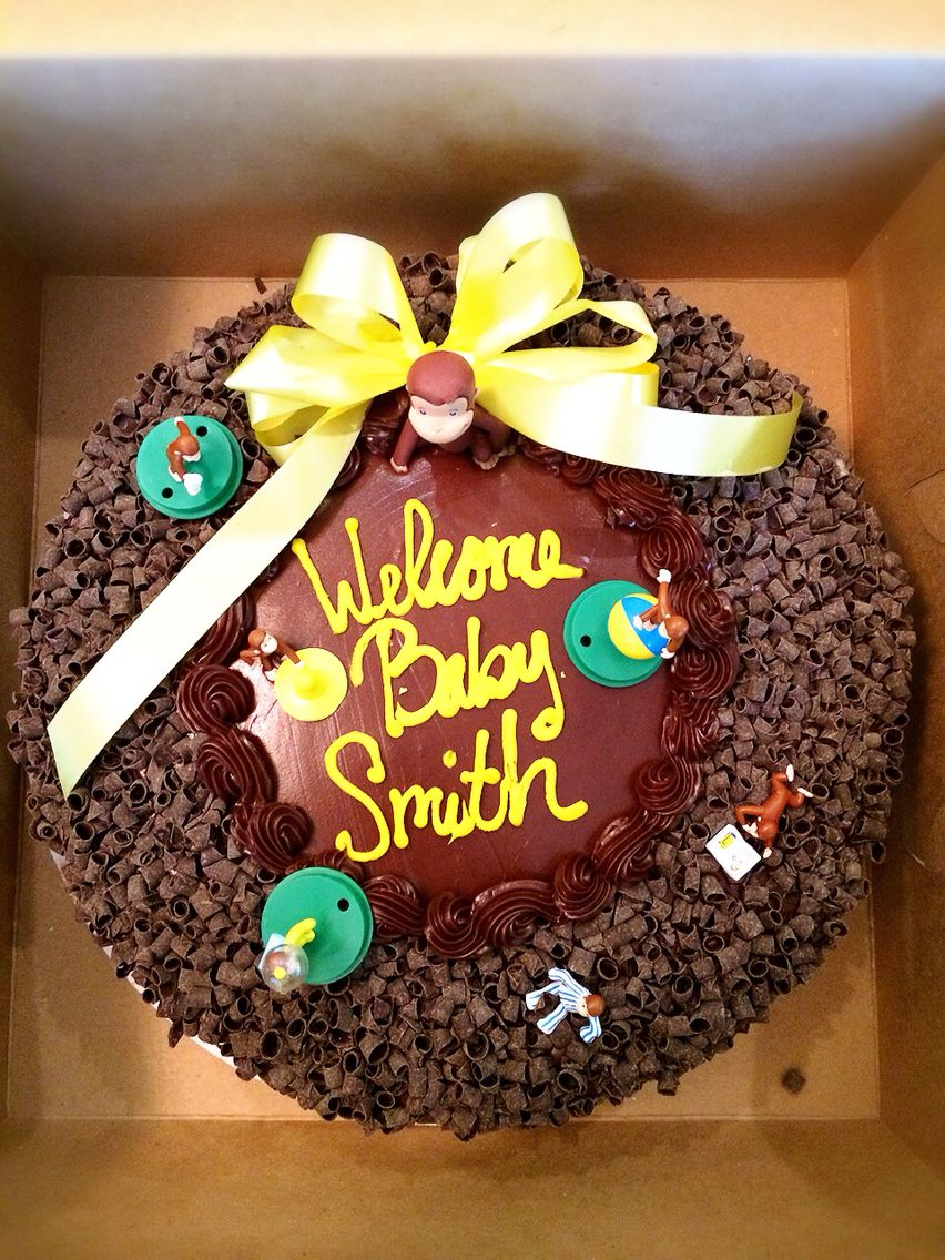 Fabulous Curious George Chocolate Curl Cake From Staters Bros Bakery Funny Birthday Cards Online Drosicarndamsfinfo