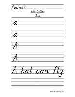 d'nealian handwriting worksheet - Google Search | preschool ...