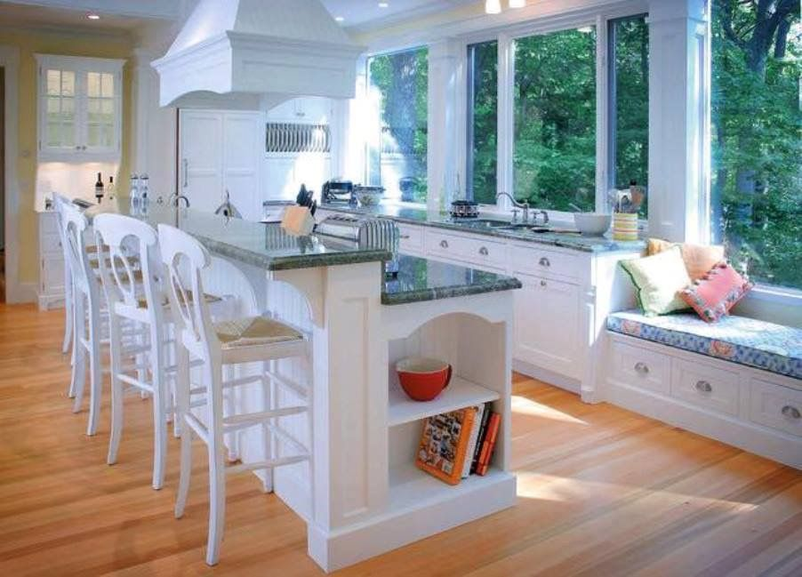 Current Trends In Kitchen Design Interesting White Kitchen With Bar Stools If You Are Redoing A Kitchen It's 2018