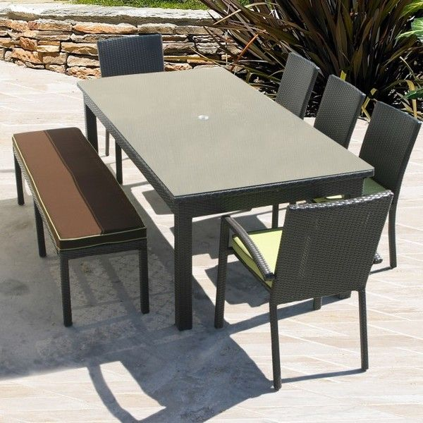 Cabo 84 X 42 Rectangle Dining Table With Images Rectangle Dining Table Outdoor Living Decor Wicker Patio Furniture