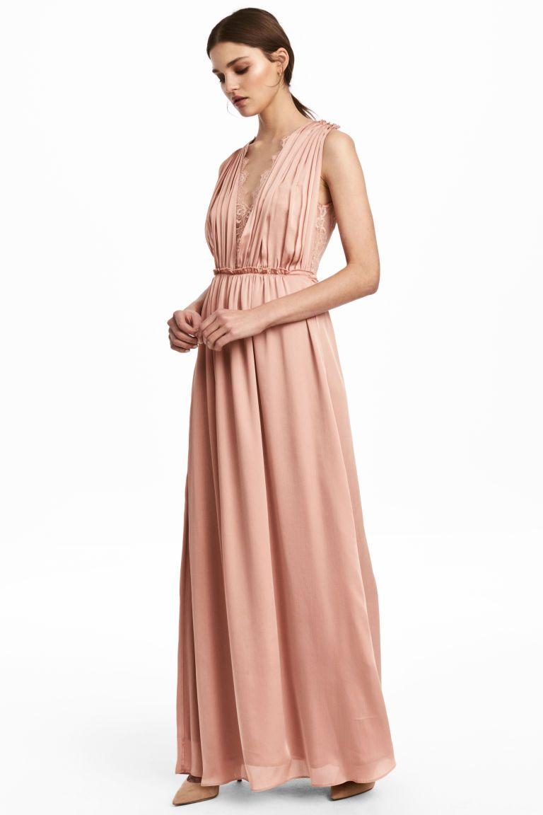 Abiti Eleganti Hm 2018.Abito Lungo Nel 2020 Stile Di Moda Abiti Rosa E Abito Color Carne