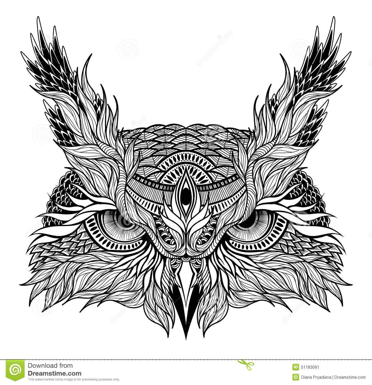 Psychedelic Owl Head Tattoo Tattoodesign Owl Tattoo Meaning Owl Head Owl Tattoo