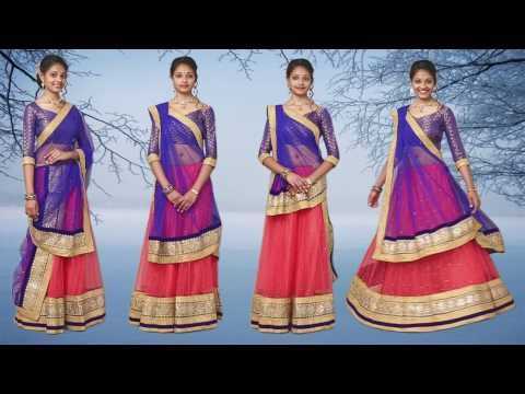 d35a07776fc52 How to Wear Lehenga with Different Style of Dupatta Draping - YouTube