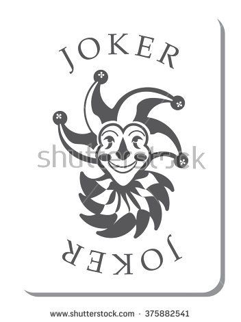 Playing Cards With The Joker From A Deck Of Playing Cards Vector Joker Card Joker Card Tattoo Card Tattoo