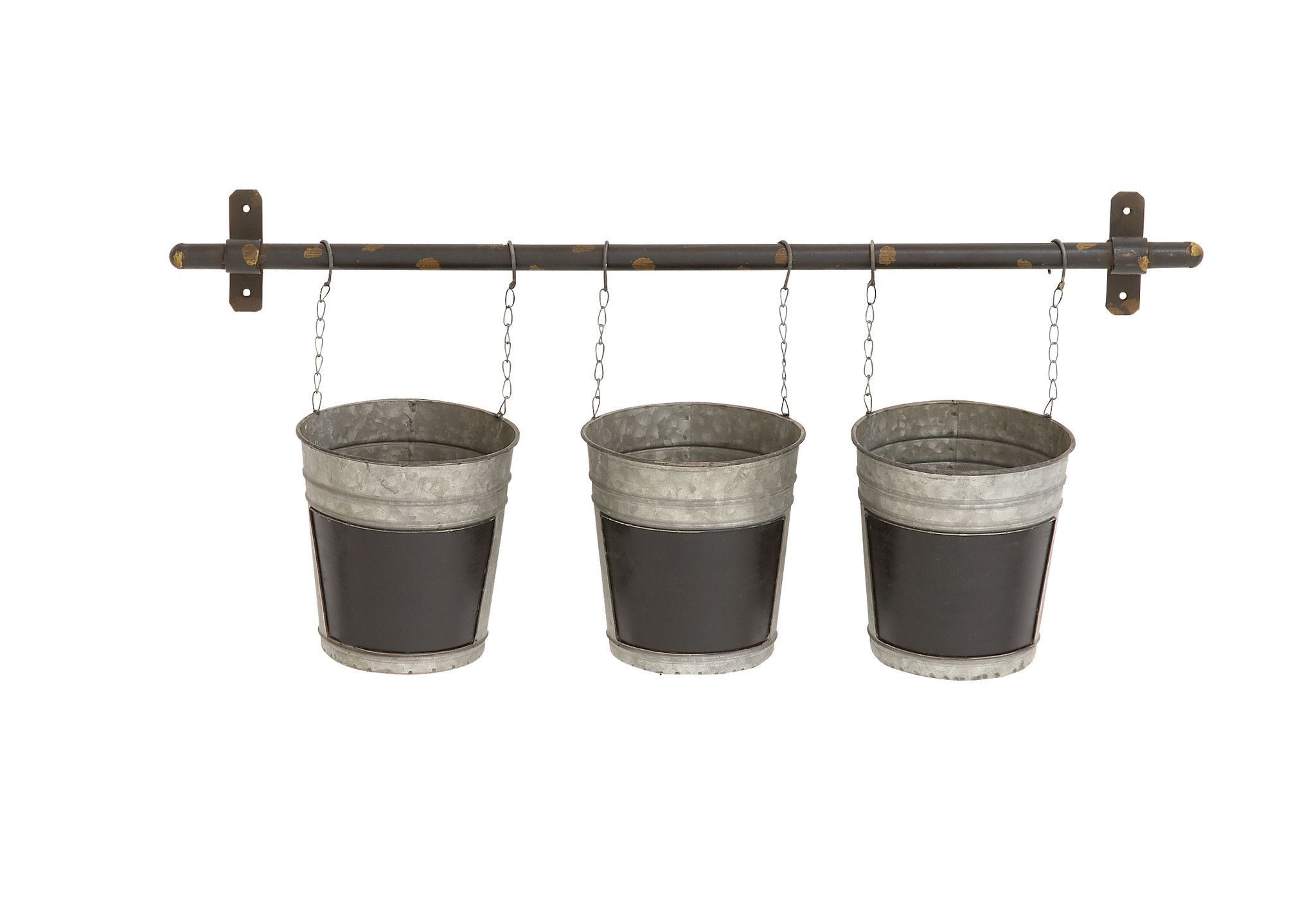 Gardenised Pail Planters Set of 2