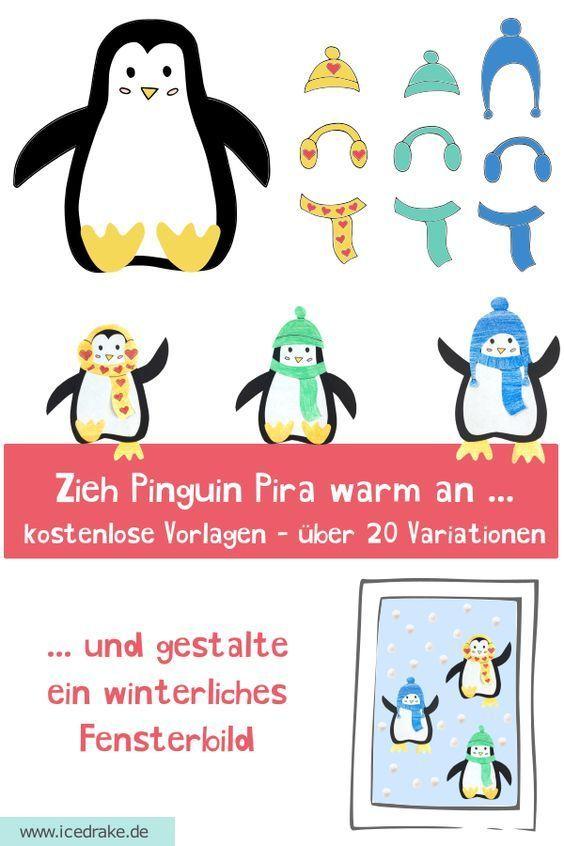 pinguin basteln  fensterbild  icedrake blog pinguin pira