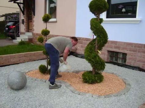 Vorgartengestaltung Mit Kies   15 Vorgarten Ideen
