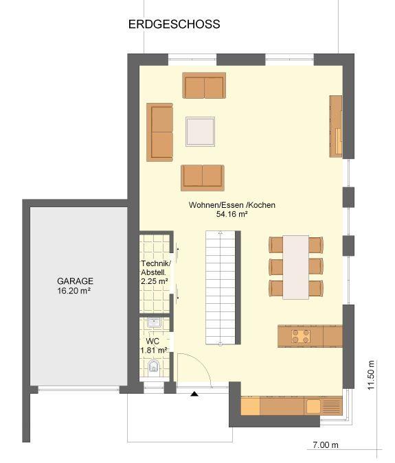 Grundriss einfamilienhaus erdgeschoss  Grundriss Erdgeschoss | Furniture | Pinterest | Erdgeschoss ...