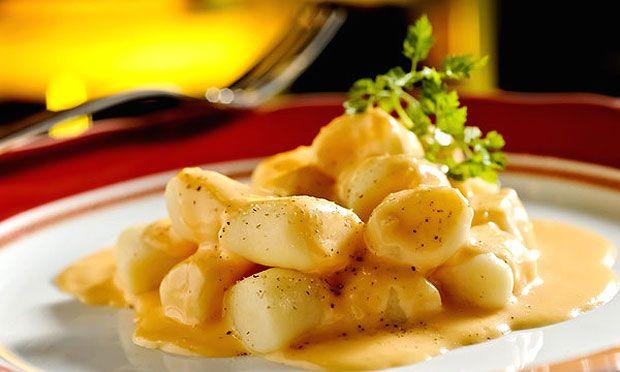 Gnocchi com fondue de queijo Fontina e molho de tomate do restaurante Figurati (Foto: Tadeu Brunelli / Divulgação)
