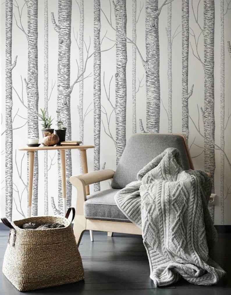 Pin By Veronika Lyubosh On Marina Misha In 2020 Birch Tree Wallpaper Tree Wallpaper Bedroom Tree Wallpaper