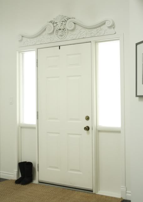 Front door pediment the design above a door window or - Decorative exterior door pediments ...