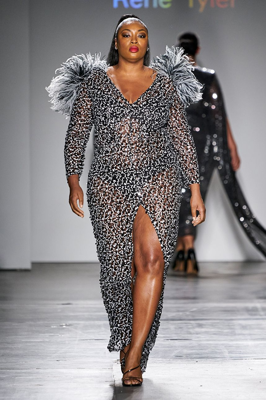 Plus Size Designer Rene Tyler Stole The Show At New York Fashion Week In 2020 Fashion Plus Size Designers Plus Size Fashion