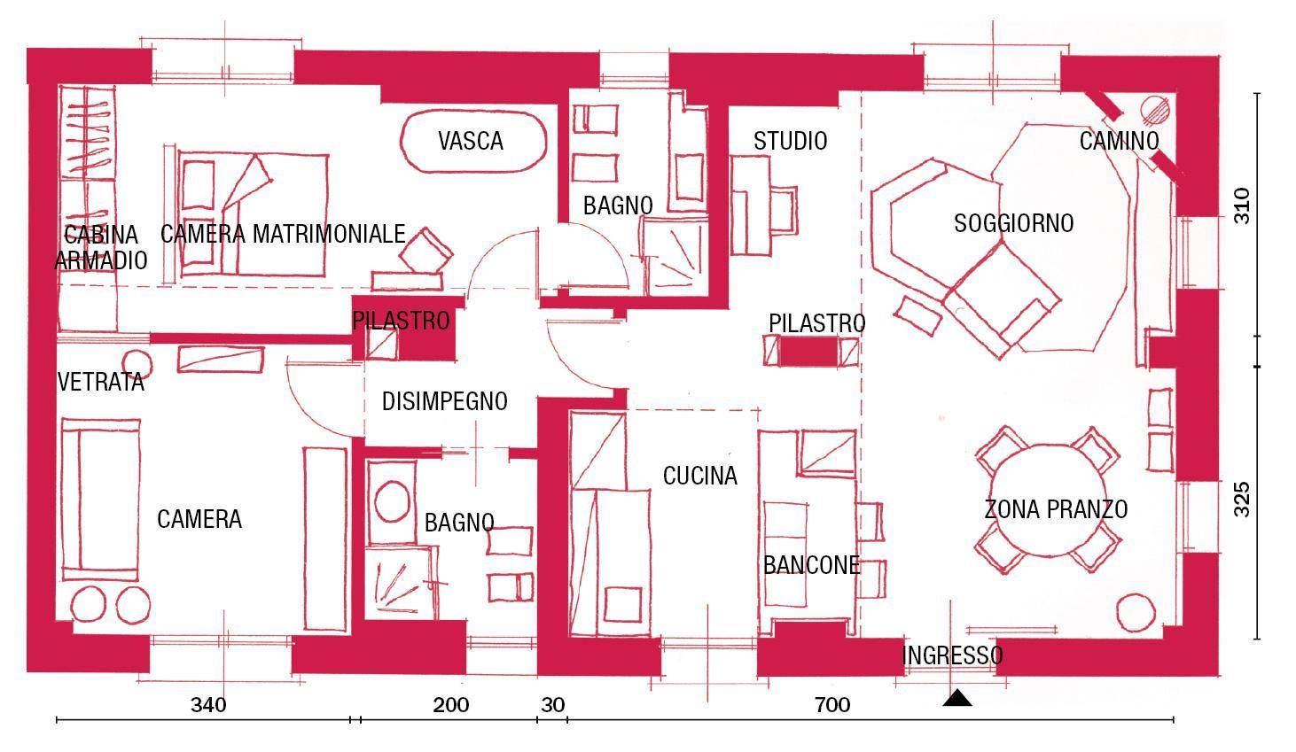 Nuovo Trilocale Di 85 Mq A Colori Orientali Cose Di Casa Nuovo Trilocale Di 85 Mq Planimetrie Dell Appartamento Planimetrie Di Case Progetto Di Appartamento