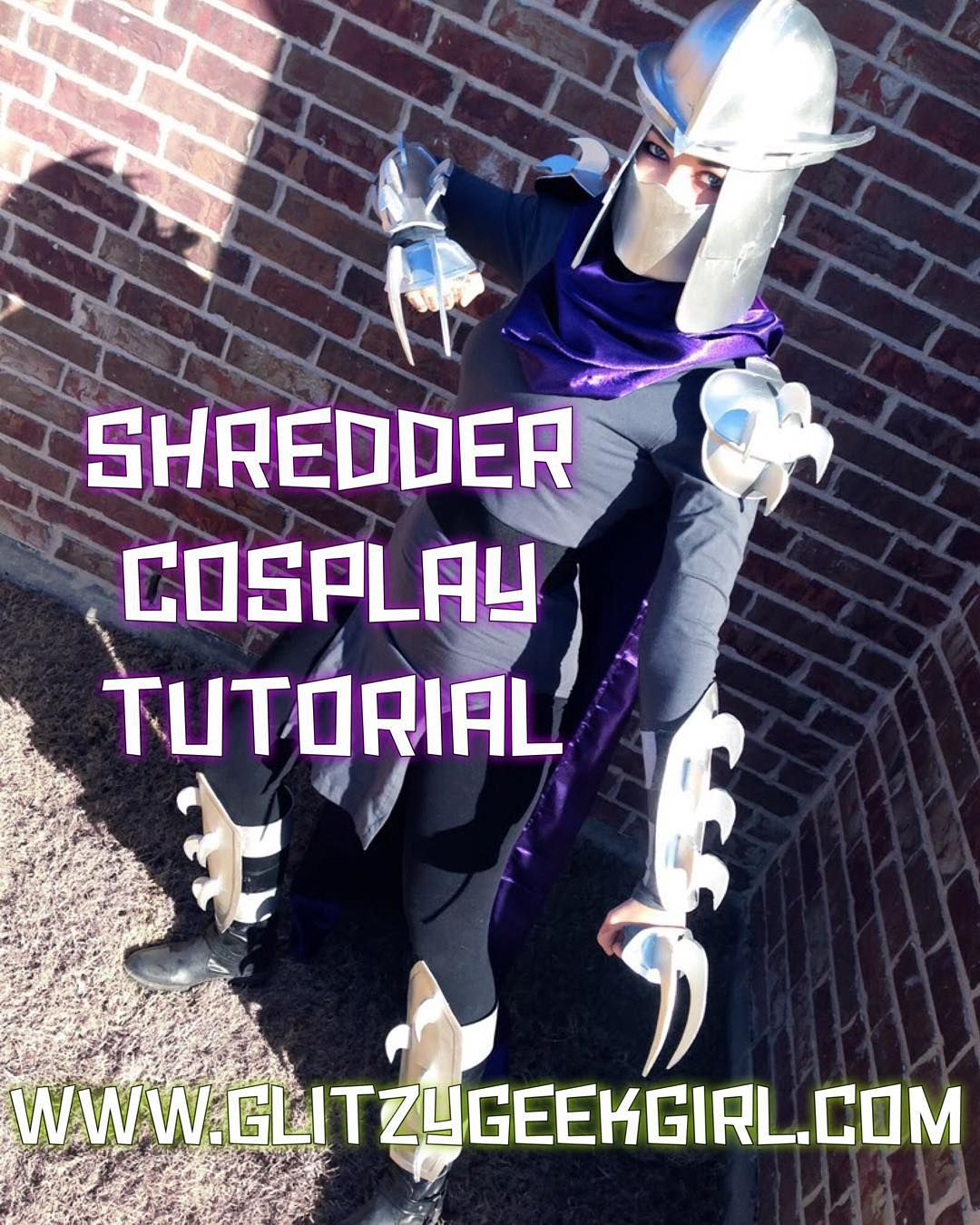 todayu0027s halloween costume tutorial is shredder from tmnt i made this with craft