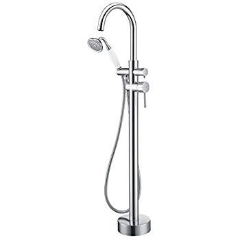 Floor Mounted Tub Faucet Chrome Freestanding Bathtub Filler