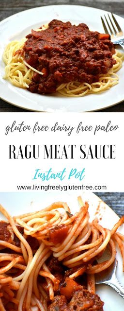 Ragu Meat Sauce (Gluten Free, Dairy Free) | Living freely ...