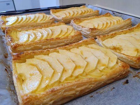 Tartaletas De Hojaldre Con Manzana Y Crema Pastelera Así De Fácil Y Así De Ricas Youtub Hojaldre Con Manzana Recetas Dulces Con Hojaldre Crema Pastelera