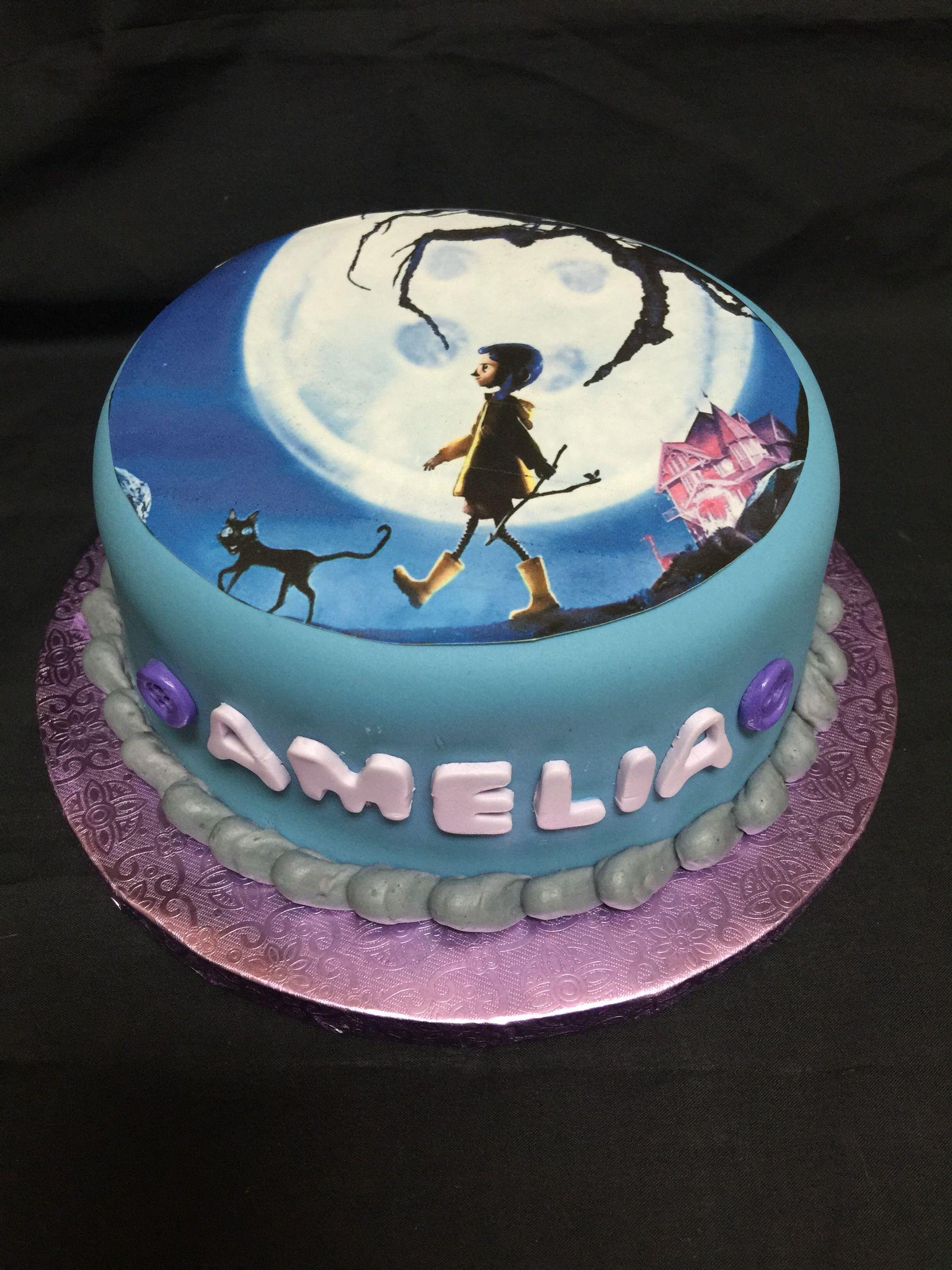 Astounding Coraline Birthday Cake Birthday Cake For Him Girl Cakes Funny Birthday Cards Online Inifodamsfinfo