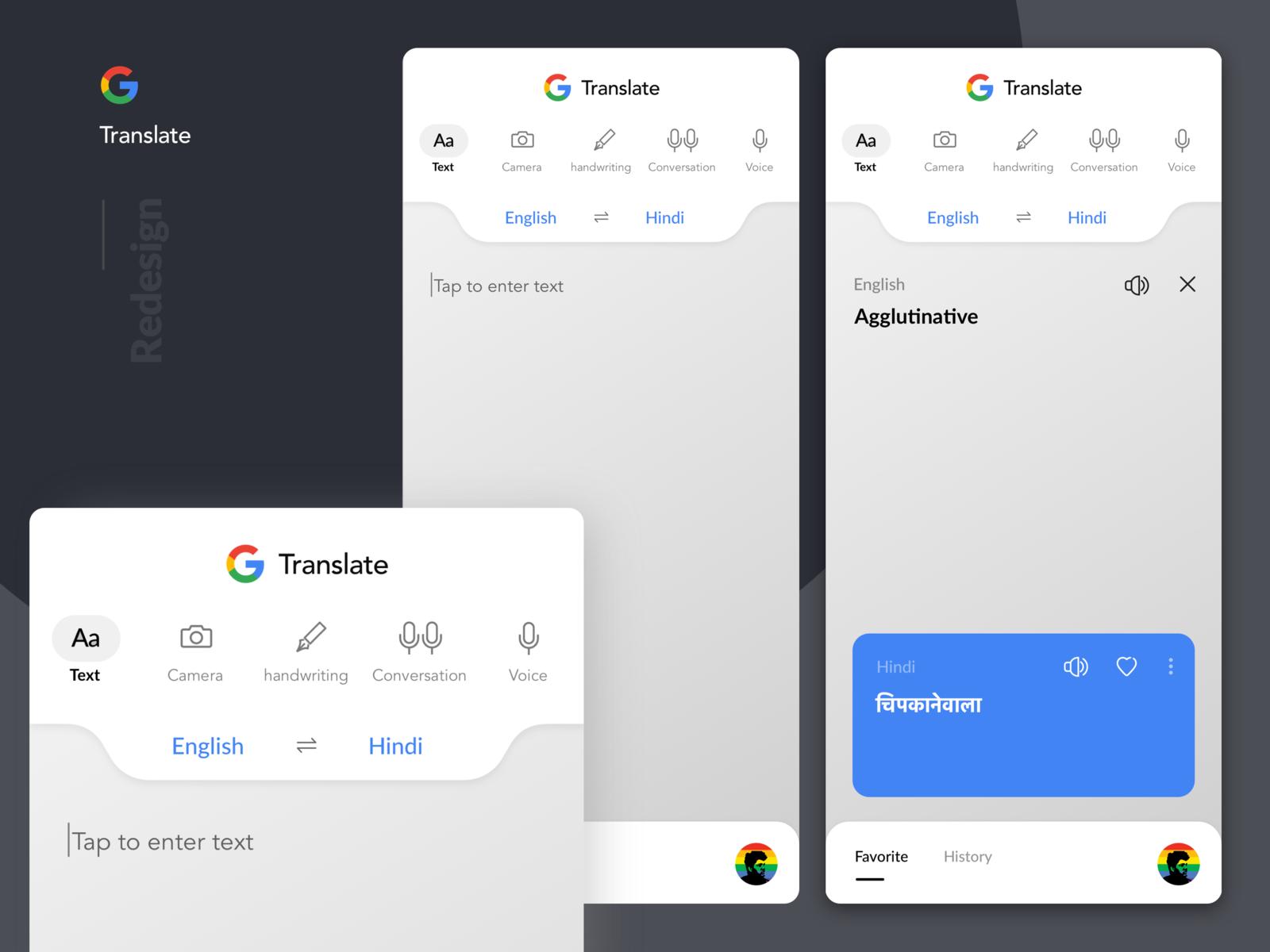 Google Translate Redesign App Interface Design Google Translate Onboarding