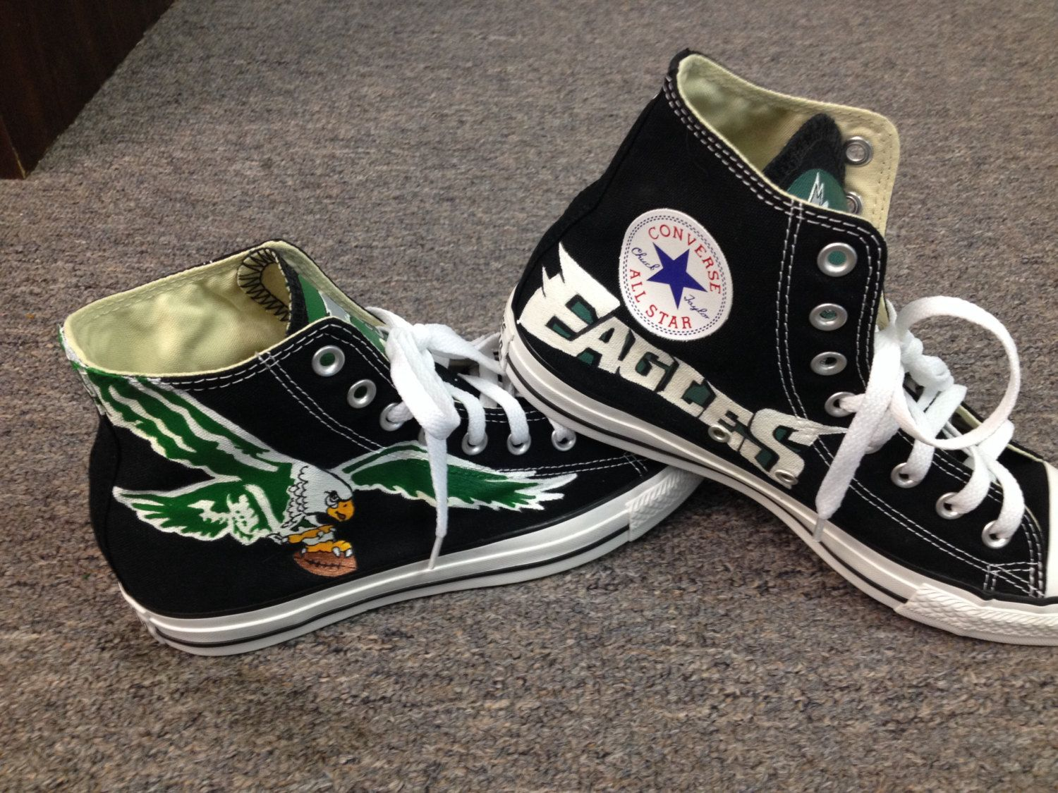 d84cad3ae601 Philadelphia Eagles Shoes Hand Painted