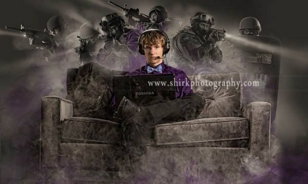Gamer's Senior Portraits. We can create something awesome with you and your favorite game.