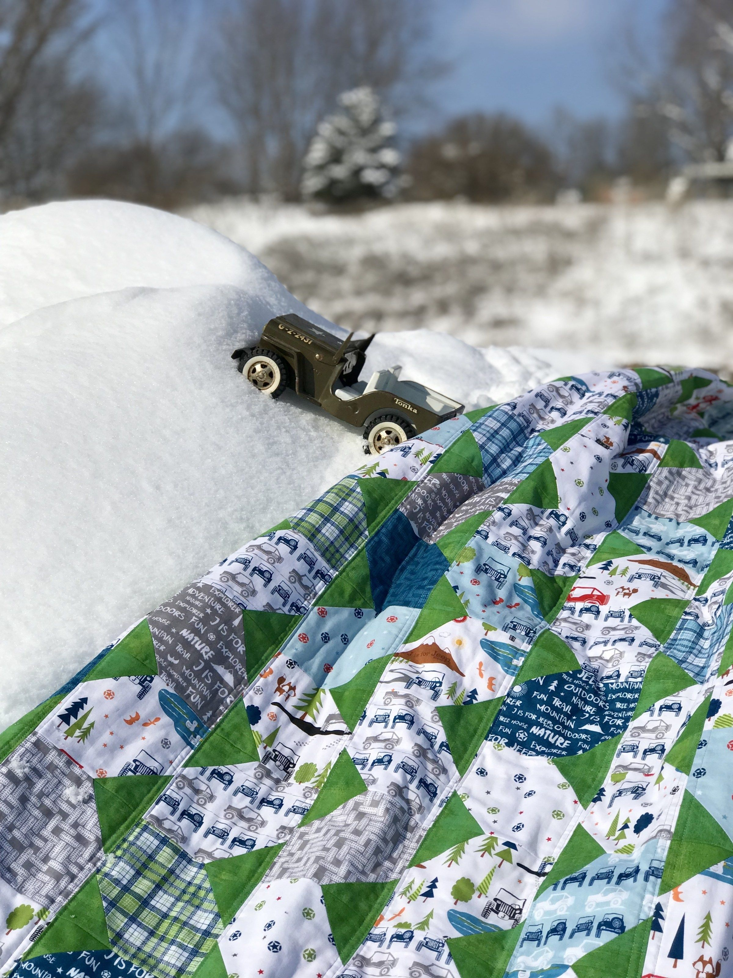 Finished My Off Road Jeep Adventure Quilt Quilts Jeep
