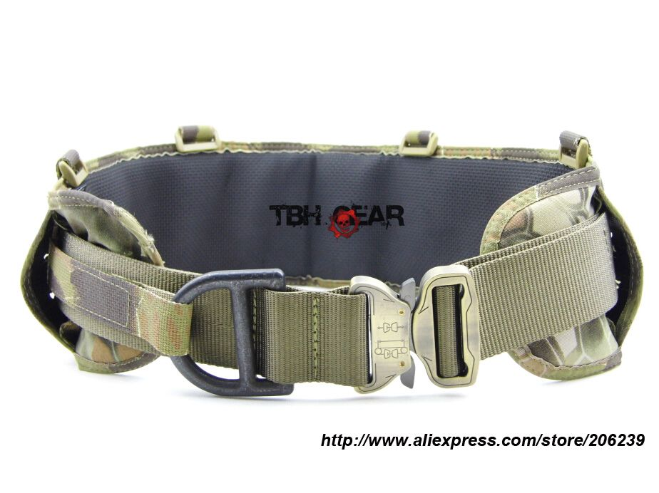 TMC Laser-Cut PALS Padded Belt Rigger Belt Tactical Belt MOLLE Belt In Kryptek Mandrake+Free shipping(SKU12050419)