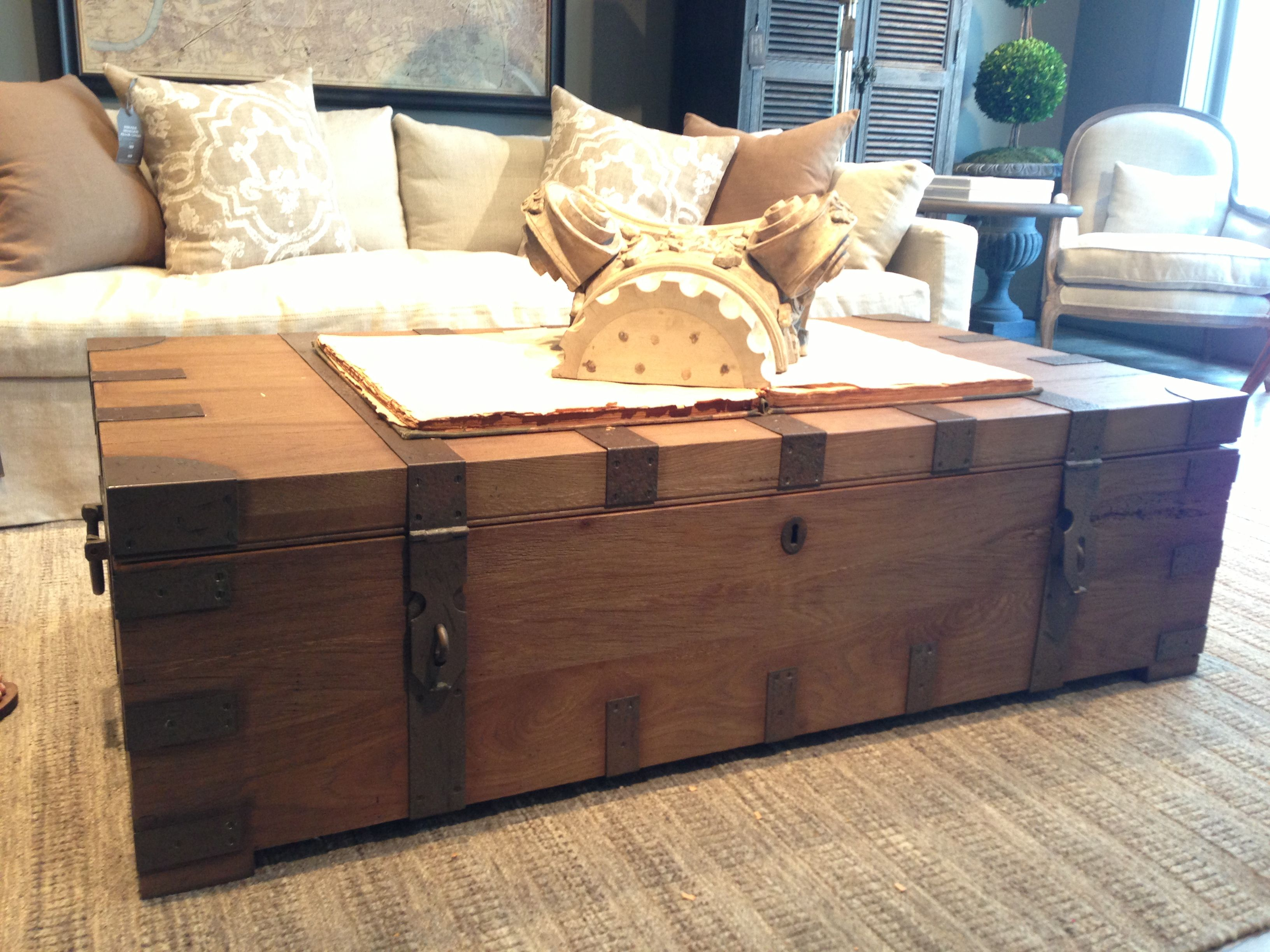 Coffee Table Trunk  Restoration Hardware Part 70