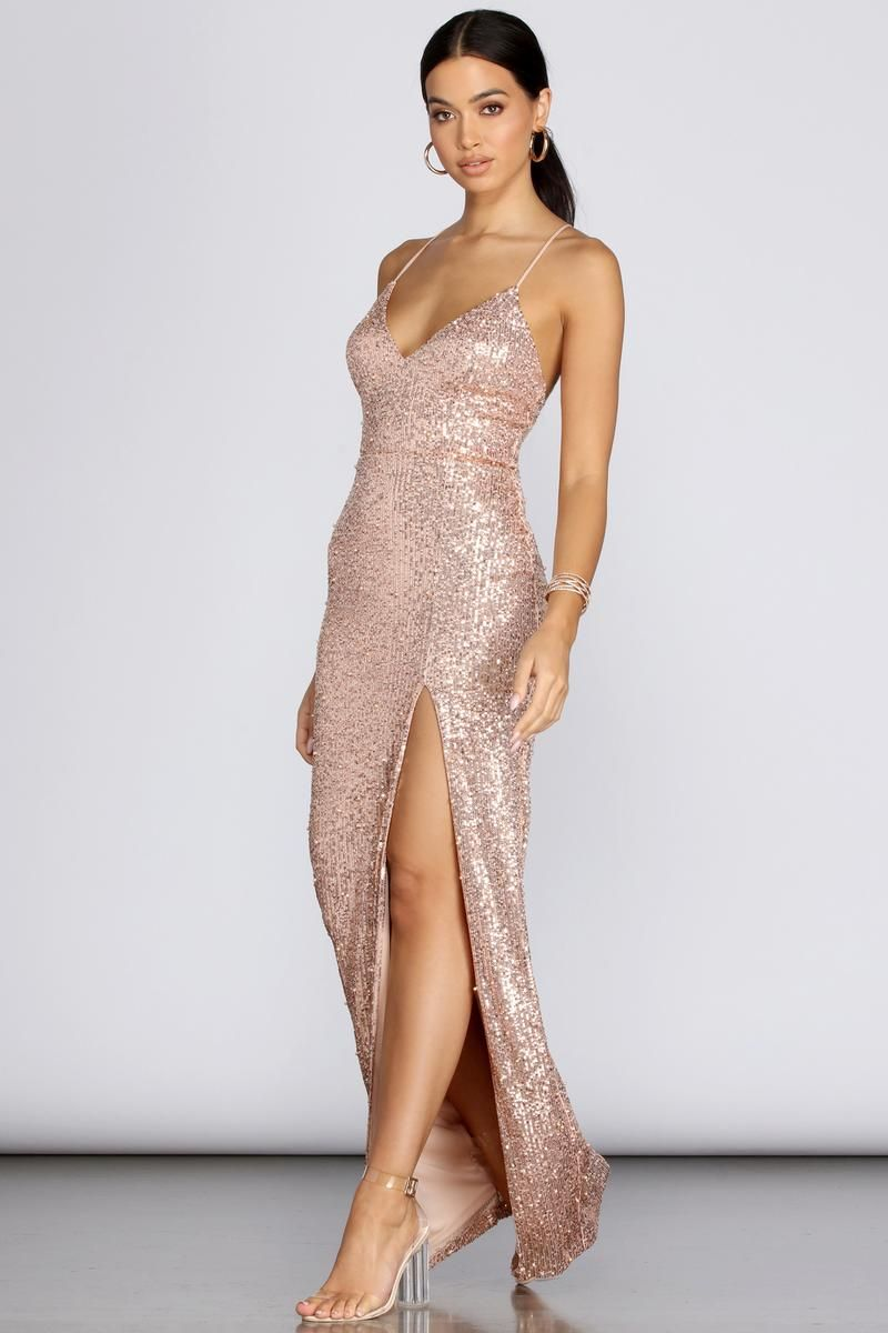 Cara formal sequin and pearl dress in 2020 original prom