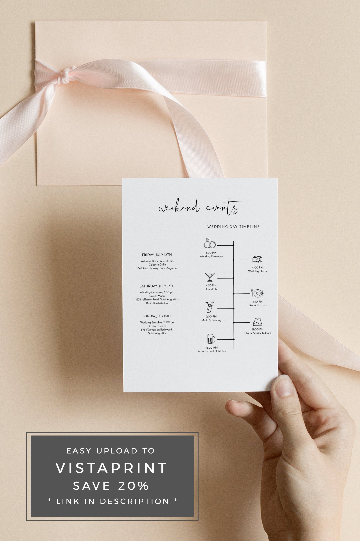 Adella Minimalist Wedding Timeline Template Wedding Timeline