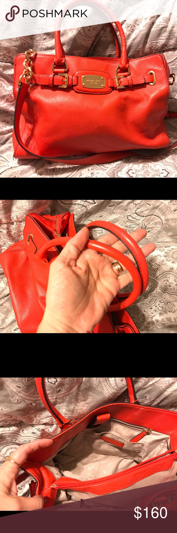Michael Kors Hamilton - make offer Beautiful deep orange Michael Kors medium Hamilton with gold hardware. Tv higher Michael Kors Bags