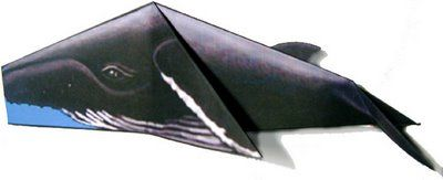 Origami Humpback Whale Print And Fold