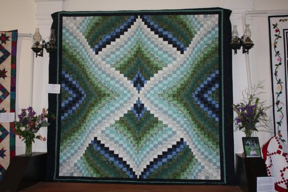 King Size Bargello Quilt By Quiltsinmaine On Etsy 950 00 Bargello Quilts Bargello Quilt Patterns Bargello Quilt