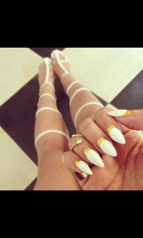 Cute white matte mountain peak nails - Cute White Matte Mountain Peak Nails Mountain Peak Nails Nails