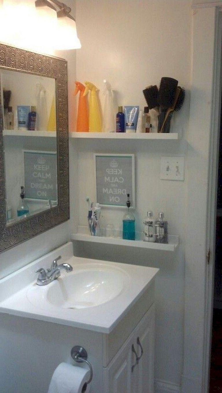 55 Beautiful Small Bathroom Ideas Remodel Small Bathroom Simple Bathroom Small Apartment Bathroom
