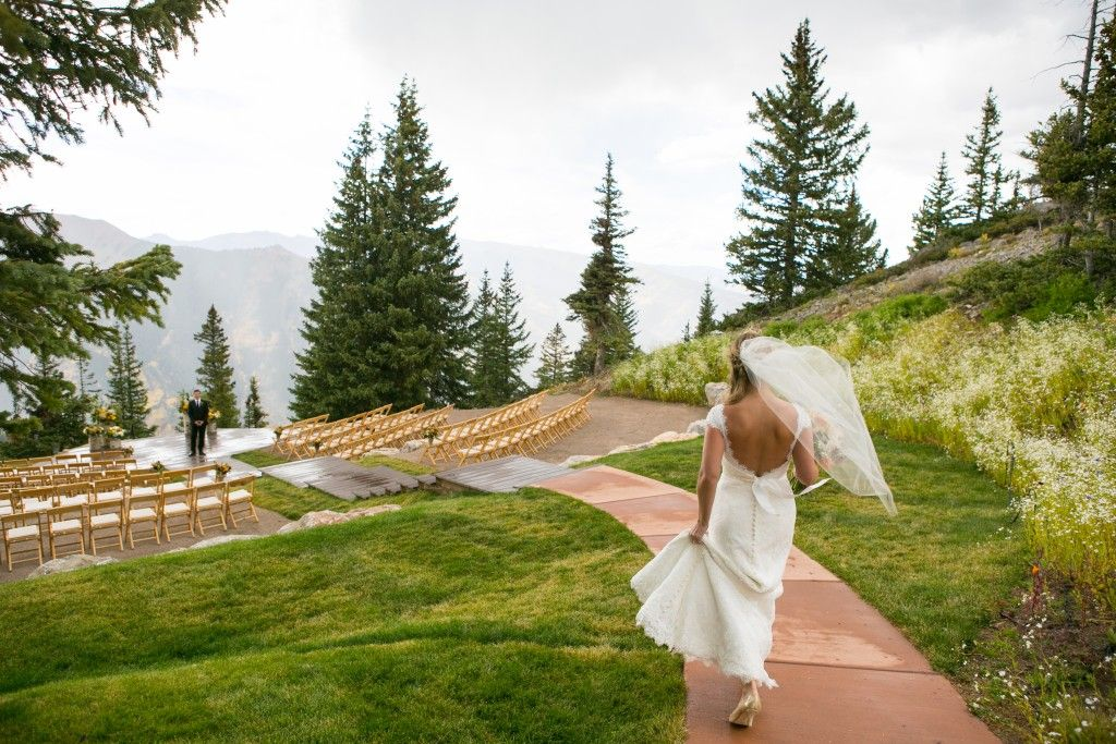 Aspen Wedding Deck Bride And Groom First Look Robin Proctor Photography
