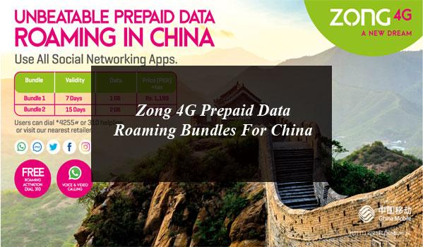 Zong 4g Prepaid Data Roaming Bundles Social Networking Apps Social Media Apps Data
