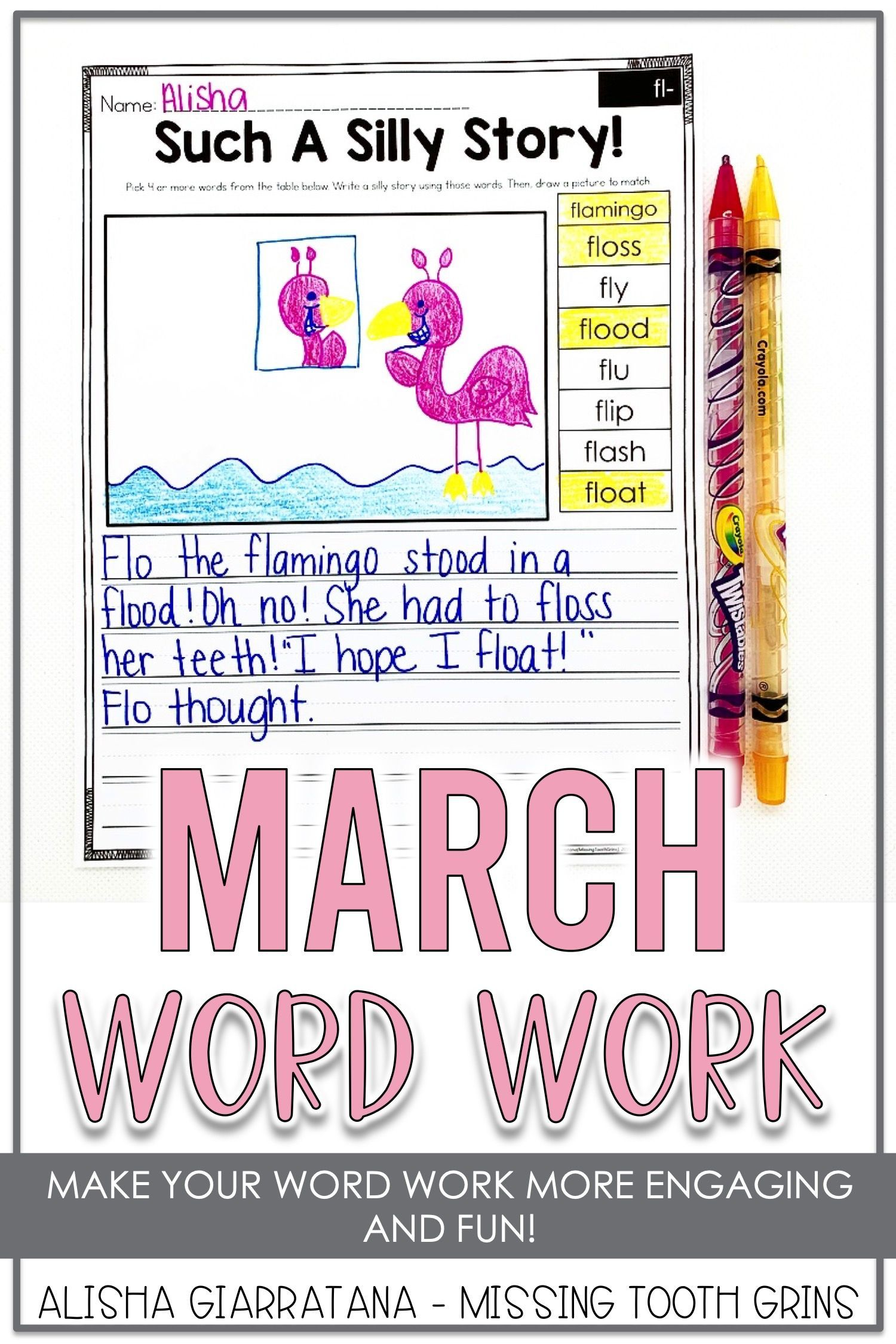 Word Work Center March
