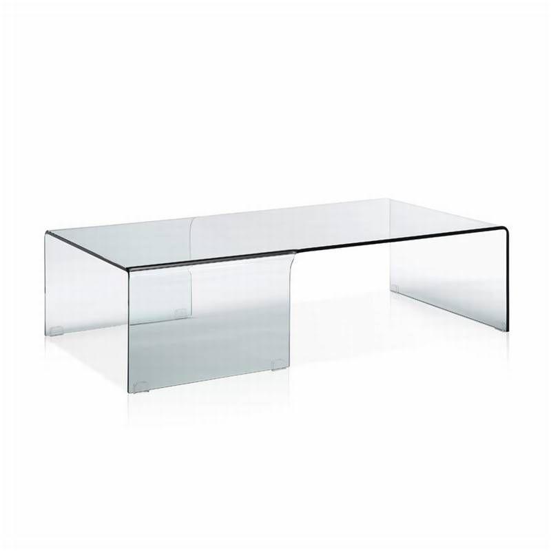 Viva Modern Ponte Waterfall Coffee Table Glass Coffee Table