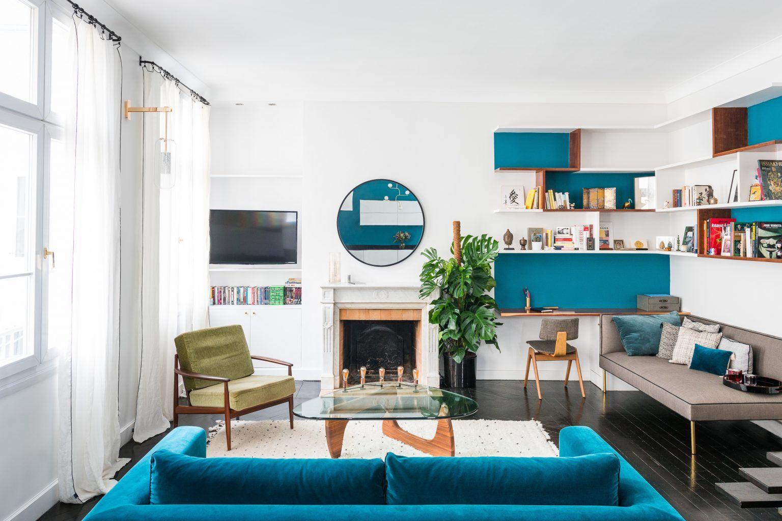 d coration paris appartement marion alberge salon s jour appartement duplex. Black Bedroom Furniture Sets. Home Design Ideas