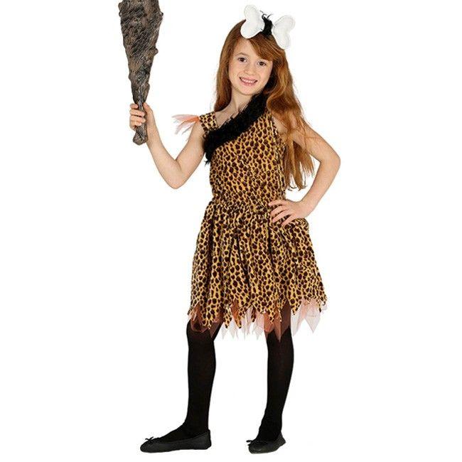 Disfraz de Cavernícola primitiva para niña #disfraces #carnaval - imagenes de disfraces de halloween