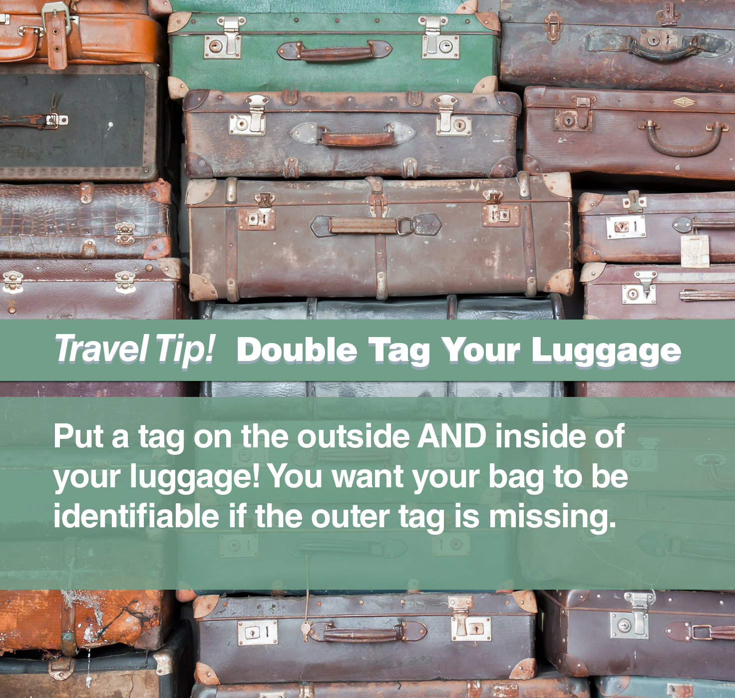 Think ahead and put your name inside of your luggage too! #travel #tip
