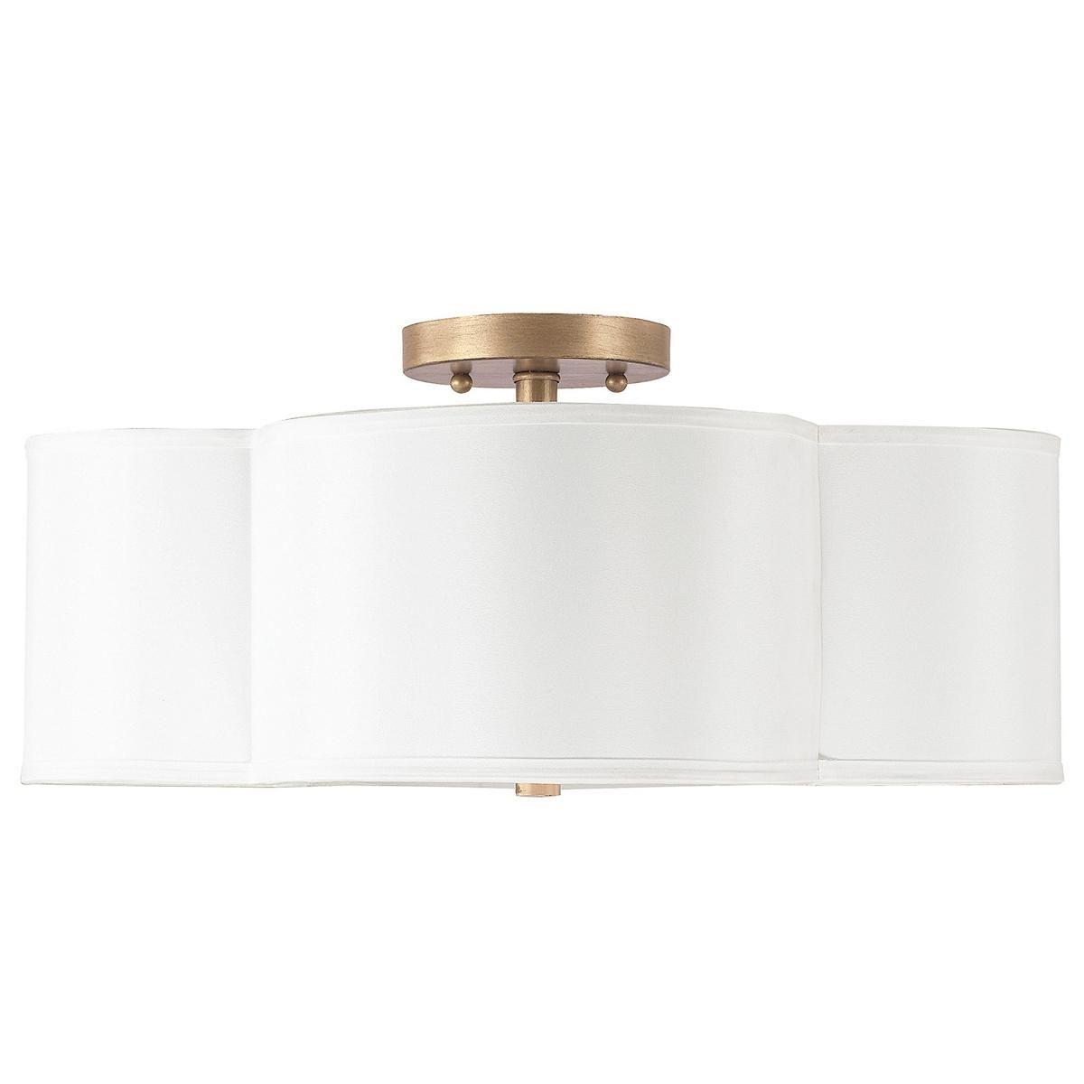 Scalloped Shade Semi-Flush Ceiling Light - 4 light | Semi ...