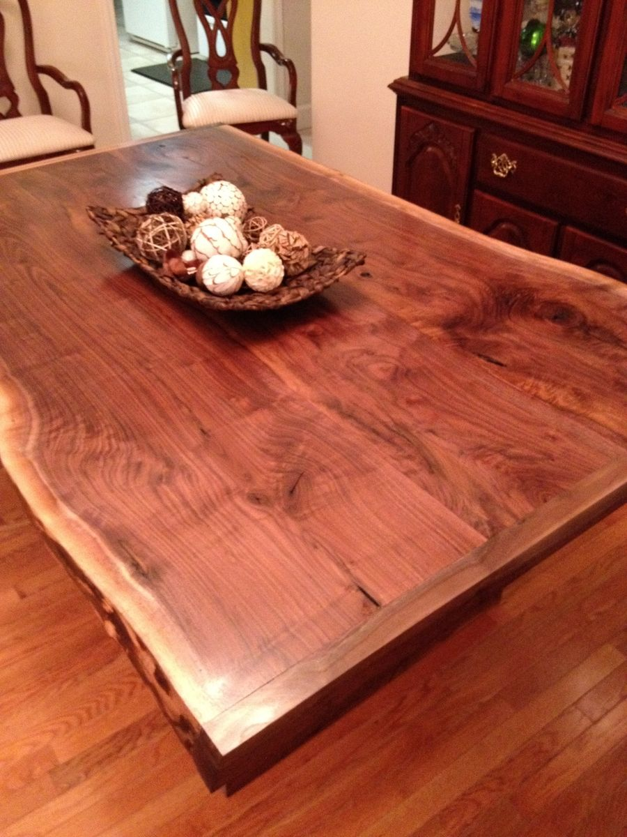 Hand Made Live Edge Dining Room Table By Southern Wood Design Custommade Com Live Edge Dining Table Live Edge Table Dining Rooms Dining Room Table