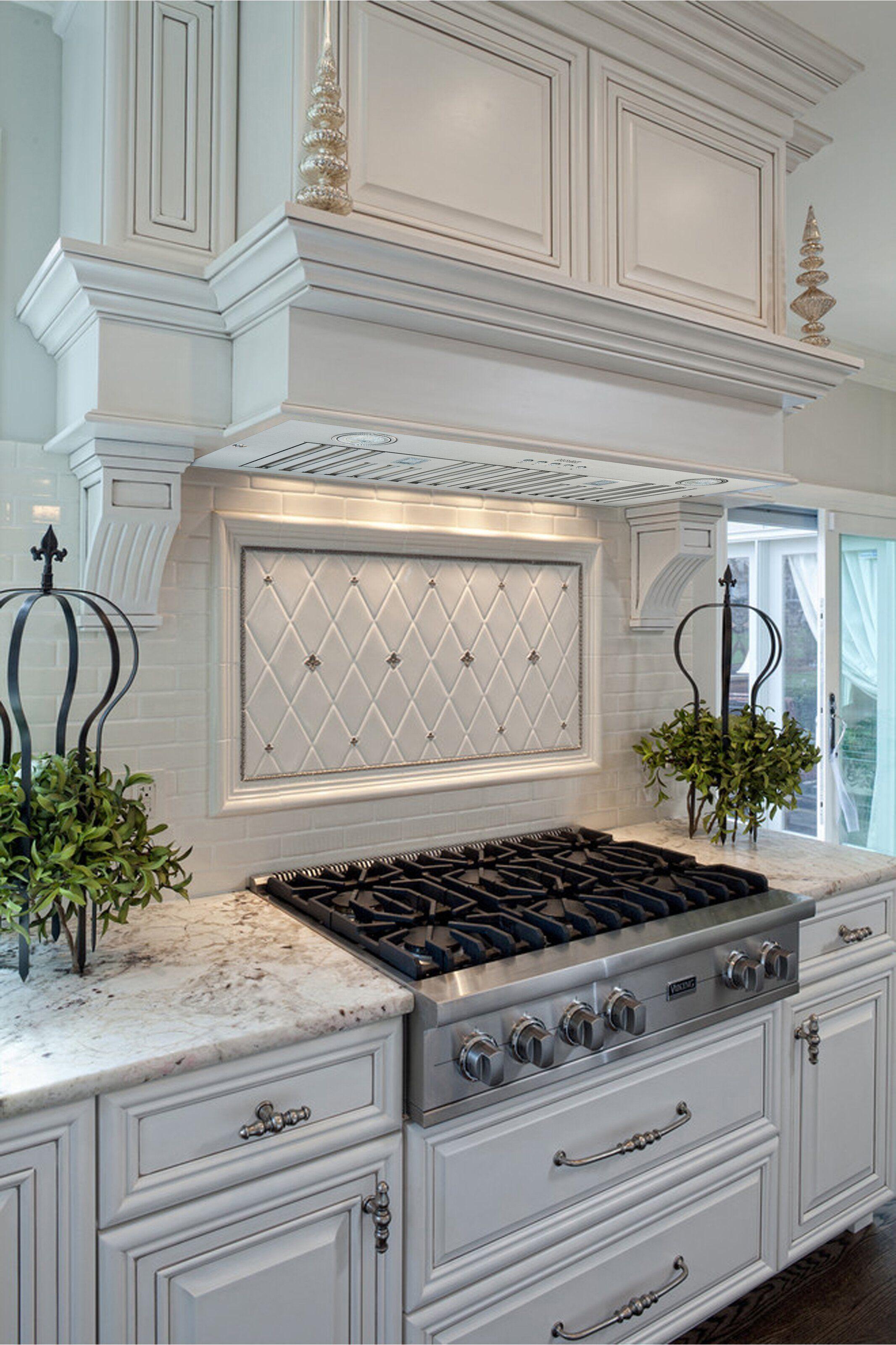 30 Brillia 550 Cfm Ducted Insert Range Hood In Stainless Steel In 2021 Kitchen Inspiration Design Stove Decor French Kitchen Design