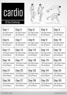 30 Day Cardio Challenge For Beginners